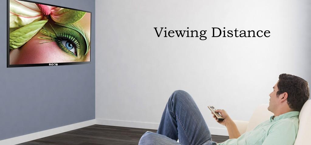 فاصله مناسب برای تماشای تلویزیون