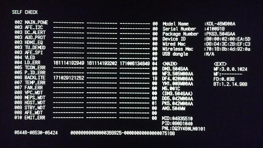 تعمیر تلویزیون سونی w900 با ایراد 6 چشمک