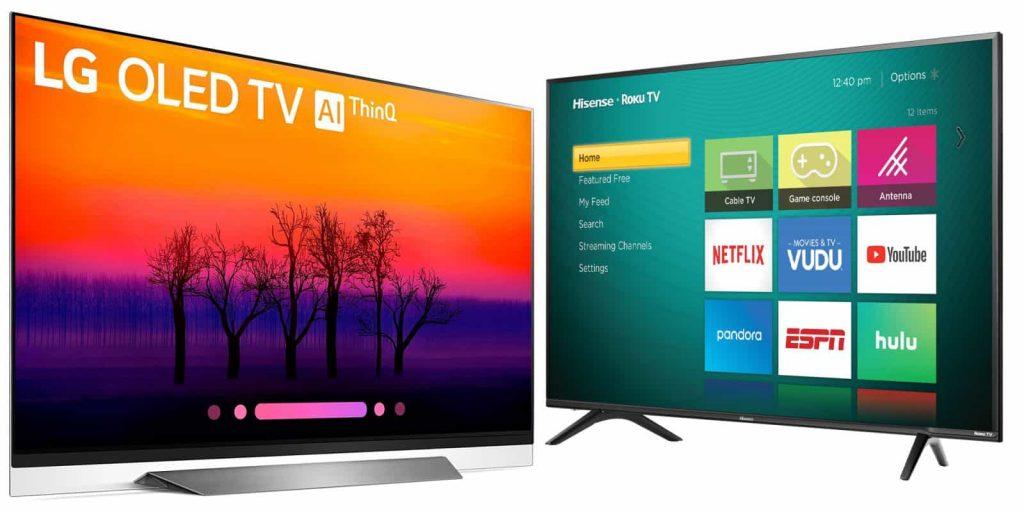 مقایسه تلویزیون هایسنس با ال جی