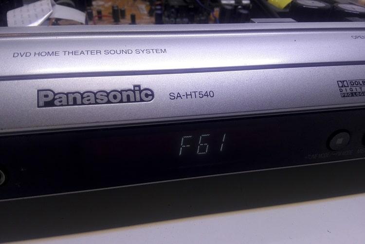 ارور f61 سینما خانگی پاناسونیک