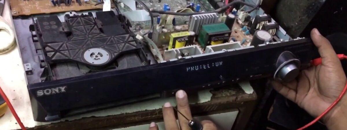 پیام DEST ERROR در تعمیر ضبط خانگی سونی